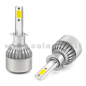 H1 7600LM KIT LED 2 LAMPADE 72W CON DIODI SCELTI KIT LED H1