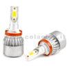 H11 7600LM KIT LED 2 LAMPADE 72W CON DIODI SCELTI KIT LED H11