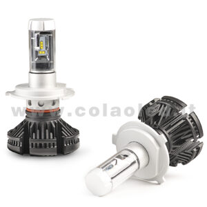 H4 12000LM  KIT LED 2 LAMPADE 100W DISSIPAZIONE LAMELLE LED CREE KIT LED H4
