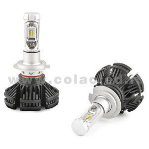 H7 12000LM KIT LED 2 LAMPADE 100W DISSIPAZIONE LAMELLE LED CREE KIT LED H7