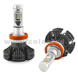 H11 12000LM KIT LED 2 LAMPADE 100W DISSIPAZIONE LAMELLE LED CREE KIT LED H11