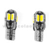 T10 LED 12V CANBUS 2 LAMPADINE MODELLO 8 SMD 5630 BIANCO LATTE NO ERRORE CANBUS W5W