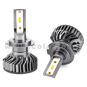 H7 10°000LM KIT LED 2 LAMPADE LED CREE  90W BIANCO FREDDO MINI TURBO LED H7