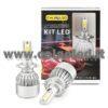 H7 7600LM KIT LED 2 LAMPADE 72W CON DIODI SCELTI KIT LED H7