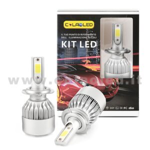 H7 7600LM KIT LED 2 LAMPADE 72W CON DIODI SCELTI KIT LED H7
