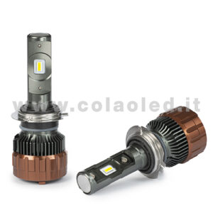H7 12000LM KIT LED 2 LAMPADE ULTRA PICCOLO 100W KIT LED COLAOLED PROGETTO MICRO POWER H7