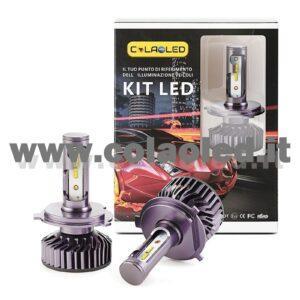 H4 10°000LM KIT LED 2 LAMPADE LED CREE  90W BIANCO FREDDO MINI TURBO LED H4