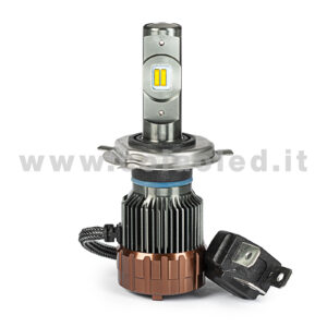 H4 7000LM KIT LED 1 LAMPADA ULTRA PICCOLO 60W KIT LED COLAOLED PROGETTO MICRO POWER H4