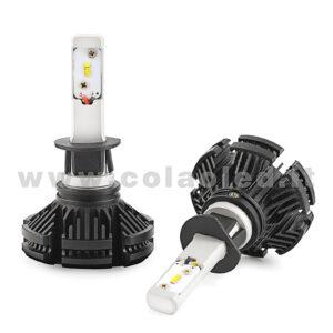 H1 12000LM  KIT LED 2 LAMPADE 100W DISSIPAZIONE LAMELLE LED CREE KIT LED H1