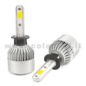 H1 16000LM KIT LED 2 LAMPADE CHIP EXTRA COOB POWER  KIT LED 80W H1