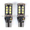 T15 LED 12V 24V CANBUS 2 LAMPADINE MODELLO 15 SMD 3535 BIANCO LATTE NO ERRORE SUPER CANBUS T15