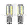 P21W 2 POLI 1157 CANBUS 2 LAMPADINE MODELLO 33 CHIP LED BIANCO LATTE NO ERRORE SUPER CANBUS BA15D