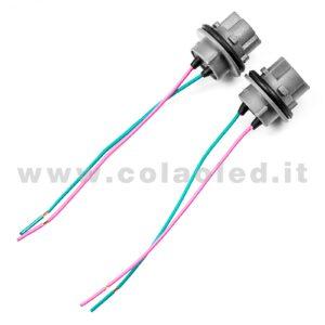 T20 7440 COPPIA CONNETTORI PORTA LAMPADE ALLOGGI T 20