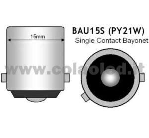 BAU15S CANBUS 2 LAMPADINE MODELLO … CHIP LED BIANCO LATTE NO ERRORE SUPER CANBUS PY21W