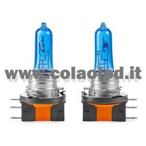 H15 2 LAMPADE ALOGENO BIANCO 12V 55W H15