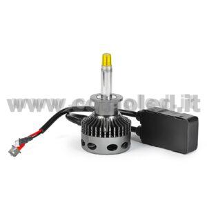 H1 CANBUS KIT LED MONO LED 1 LAMPADA 15000LM 60W USO LENTICOLARE BIANCO LATTE CON TRASFORMATORE CANBUS MONOLED H1