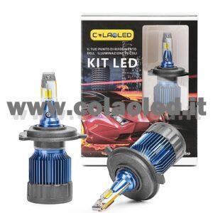 H4 13°000LM KIT LED 2 LAMPADE LED CREE 110W BIANCO FREDDO PROGETTO SUPER MICRO LED H4