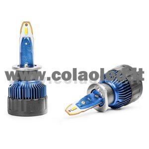 H1 11°000LM KIT LED 2 LAMPADE LED CREE 95W BIANCO FREDDO PROGETTO SUPER MICRO LED H1