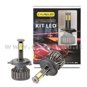 H4 9600LM KIT LED 2 LAMPADE STAR 96W POWER KIT LED 4 LED H4