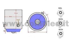 H21W 12V CANBUS 2 LAMPADINE MODELLO … CHIP LED BIANCO LATTE BAY9S