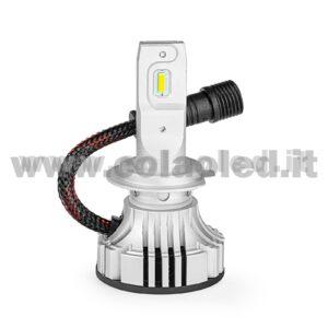 H7 CANBUS 12000LM KIT LED 1 LAMPADA LED CREE 55W BIANCO FREDDO MINI TURBO LED CON TRASFORMATORE SUPER CANBUS H7
